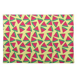 Cute Watermelon Slice Cartoon Pattern Placemat