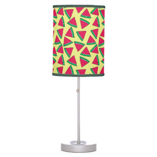 Cute Watermelon Slice Cartoon Pattern Table Lamp