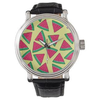 Cute Watermelon Slice Cartoon Pattern Watch