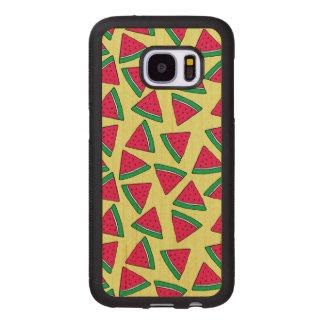 Cute Watermelon Slice Cartoon Pattern Wood Samsung Galaxy S7 Case