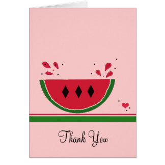 Cute Watermelon Thank You Card