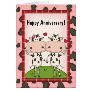 Cute Wedding Anniversary Wishes Card