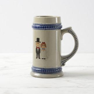 Cute Wedding Couple Beer Stein