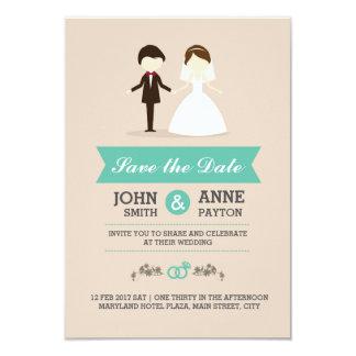 Cute Wedding Couple Invitation Card