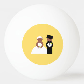 Cute wedding couple Ping-Pong ball