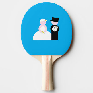 Cute wedding couple Ping-Pong paddle