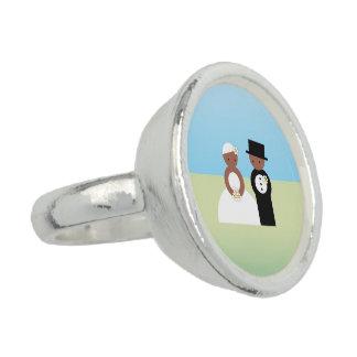 Cute wedding couple ring