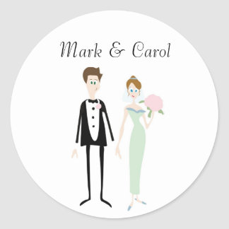 Cute Wedding Couple Stickers