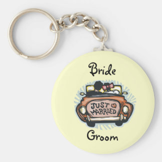 Cute Wedding Favors Basic Round Button Keychain