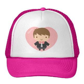 Cute Wedding Groom Boy in Tuxedo For Him Trucker Hat