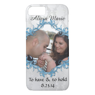Cute Wedding Just Married Photo iPhone case