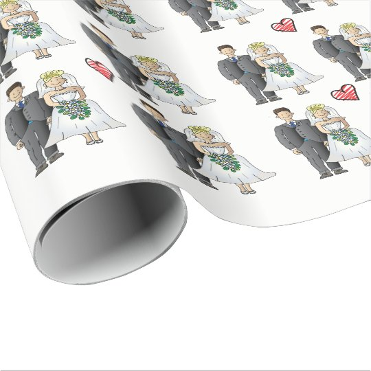 Cute wedding wrapping paper