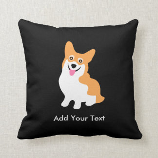 Cute Welsh Pembroke Corgi Puppy Throw Pillow