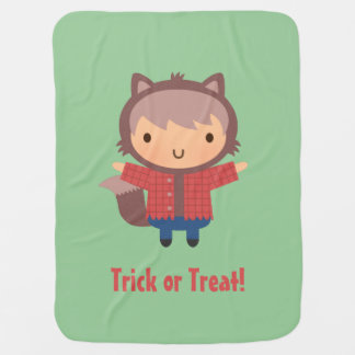 Cute Werewolf Boy, Baby Halloween Baby Blanket