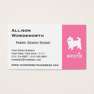 Cute West Highland Terrier - I Love Westies Business Card