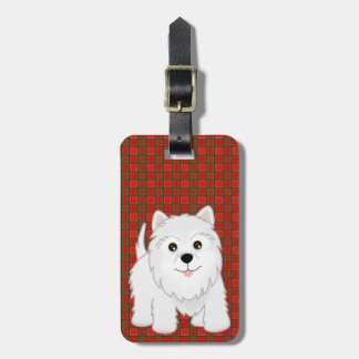 Cute West Highland White Terrier Puppy Dog Luggage Tag