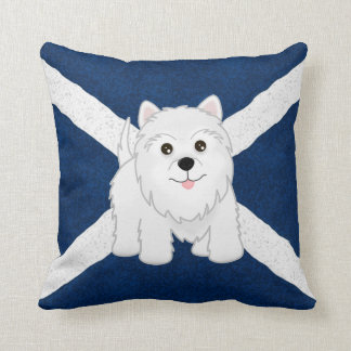 Cute West Highland White Terrier Puppy Dog Throw Pillow