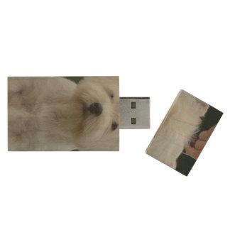 Cute West Highland White Terrier Wood USB 2.0 Flash Drive