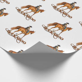 Cute Western Buckaroo Little Cowboy Wrapping Paper