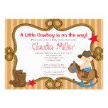 Cute Western Cowboy Baby Shower Invitation Custom Announcement