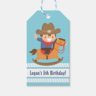 Cute Western Cowboy Kids Birthday Party Tags