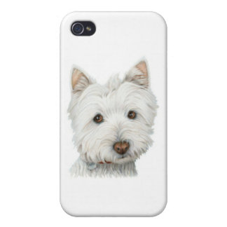 Cute Westie Dog Covers For iPhone 4