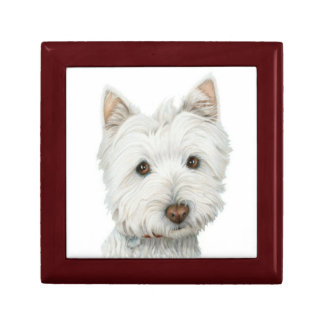 Cute Westie Dog Gift Box