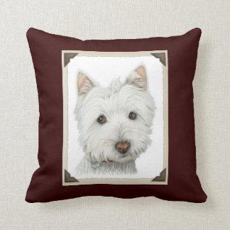 Cute Westie Dog MoJo Pillow