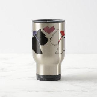 Cute Westie Dogs Art Travel Mug
