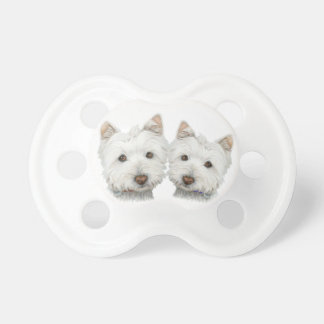Cute Westie Dogs Baby Pacifier / Baby Dummy
