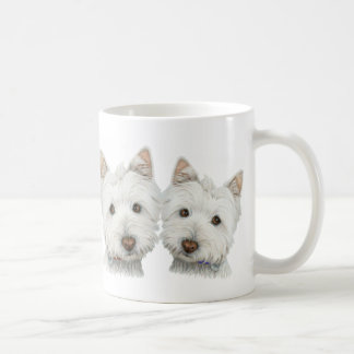 Cute Westie Dogs Coffee Mug