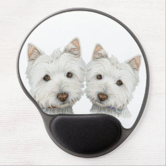 Cute Westie Dogs Gel Mouspad Gel Mouse Pad