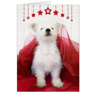 Cute Westie Pup Christmas Card