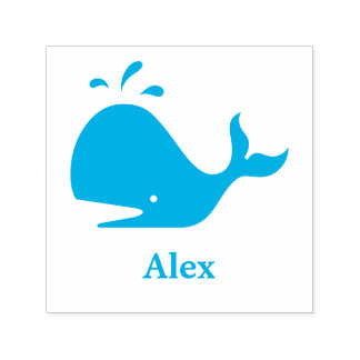 Cute Whale 4Alex (Name) Self-inking Stamp