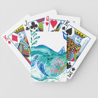 Cute Whale Art Bicycle Playing Cards