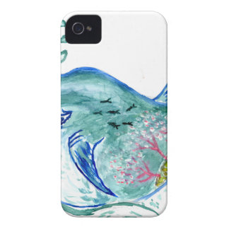 Cute Whale Art iPhone 4 Case-Mate Cases