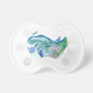 Cute Whale Art Pacifier