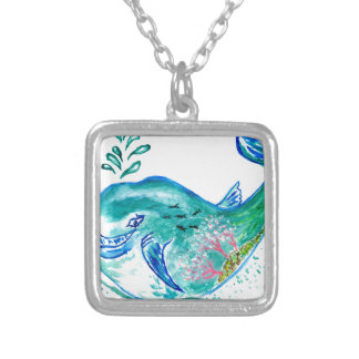 Cute Whale Art Silver Plated Necklace