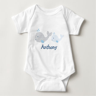 Cute Whale Baby Bodysuit