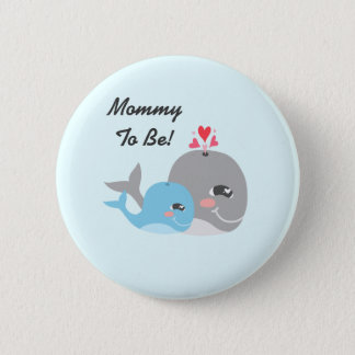 Cute Whale Boy Baby Shower 2 Inch Round Button
