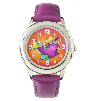 cute whale cartoon magnet watch