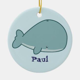 Cute Whale Ceramic Ornament