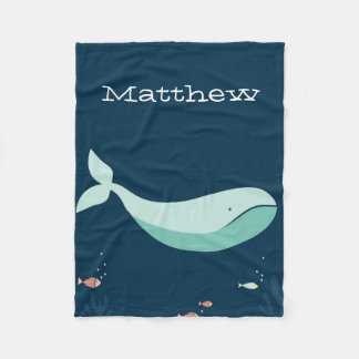 Cute Whale Fleece Blanket