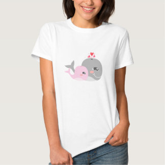 Cute Whale Girl Baby Shower Tshirt