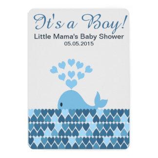 Cute Whale It's a Boy! Baby Shower Card