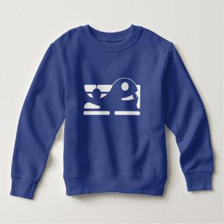 Cute whale kid's royal blue tshirt HQH