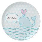 Cute Whale Plate
