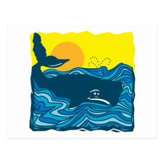 Cute Whale Postcard