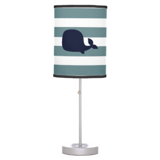 Cute Whale Sea Animal Nautical Ocean Nursery Decor Table Lamp