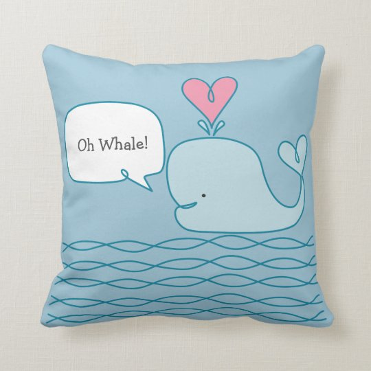 Cute Whale Throw Pillow